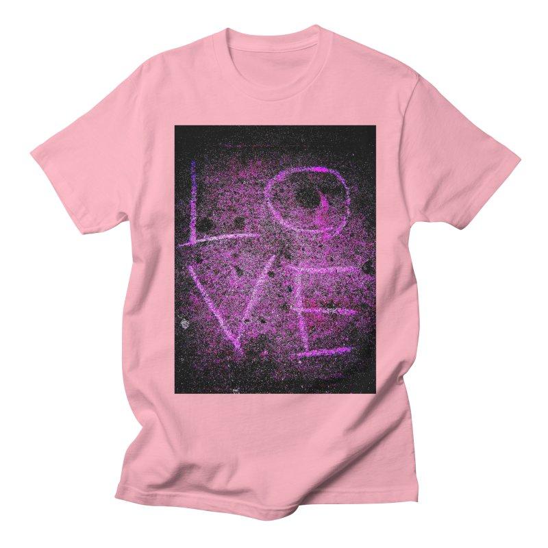 PUNK ROCK LOVE (Aka: URBAN LOVE) in Women's Regular Unisex T-Shirt Light Pink by MEDIUM Artist Shop