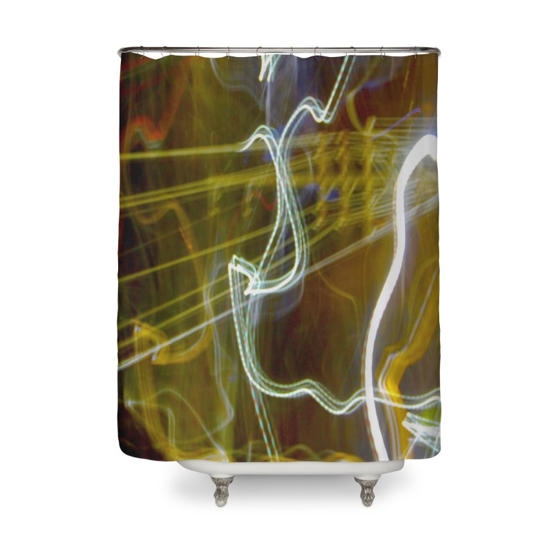 Dancing Power Spirits (color) in Shower Curtain by segalbird's Artist Shop