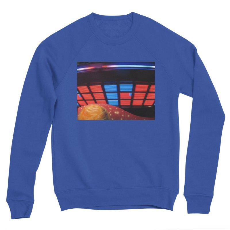Starship Saucer (Red & Blue) Women's Sweatshirt by MEDIUM Artist Shop