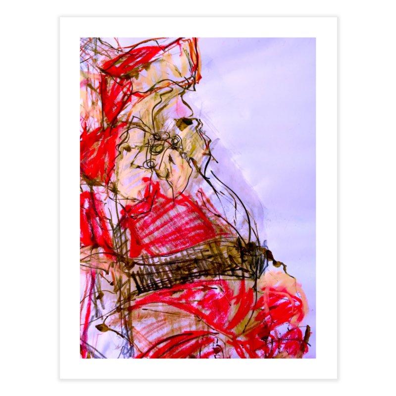 Knock Yourself Out Santa! Home Fine Art Print by MEDIUM Artist Shop