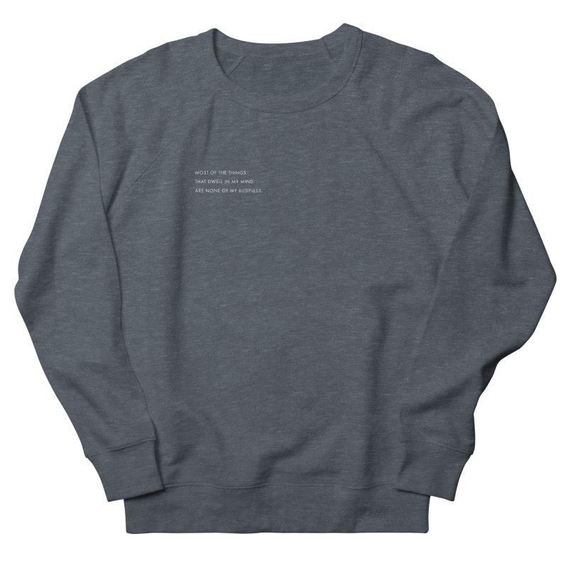things in my mind in Men's Sweatshirt Heather Navy Denim by freewrite by seher | shop