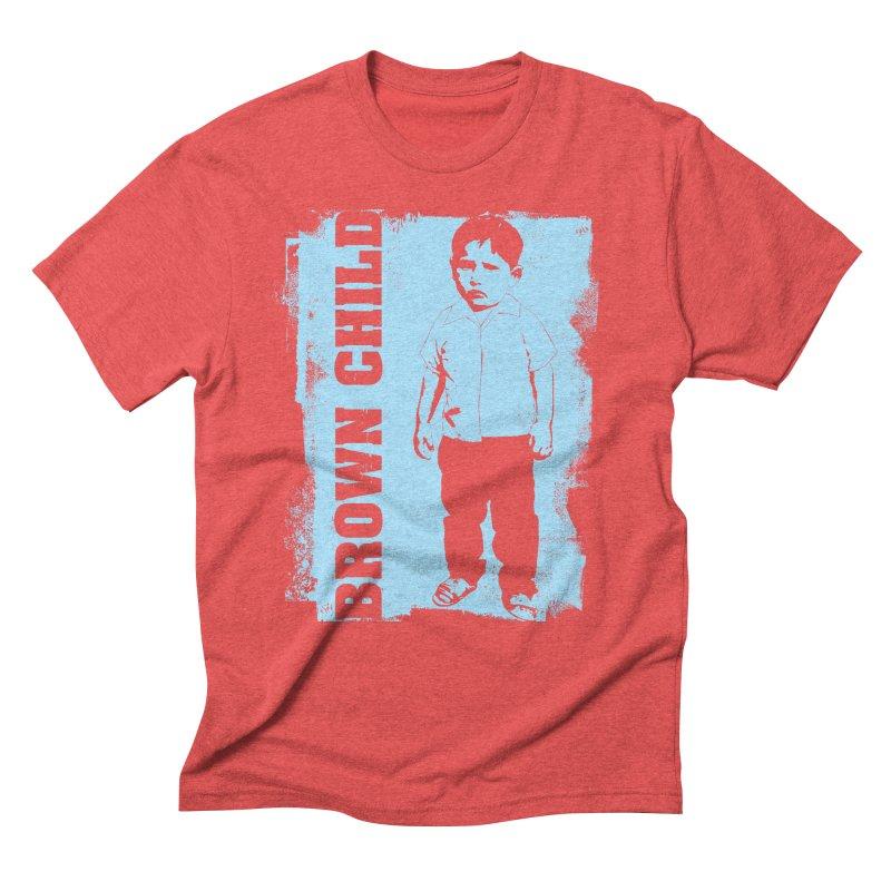 Brown Child Men's Triblend T-shirt by Seismicmark