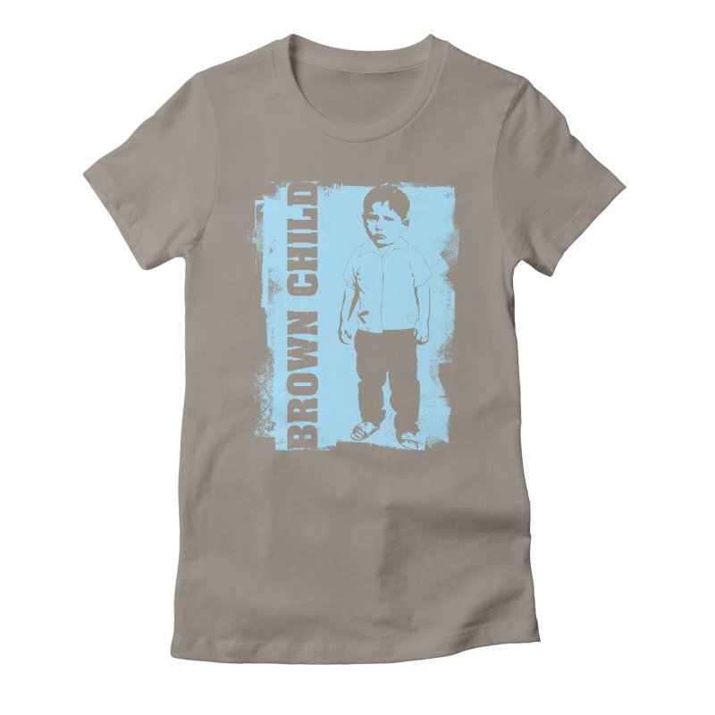 Brown Child Women's Fitted T-Shirt by Seismicmark