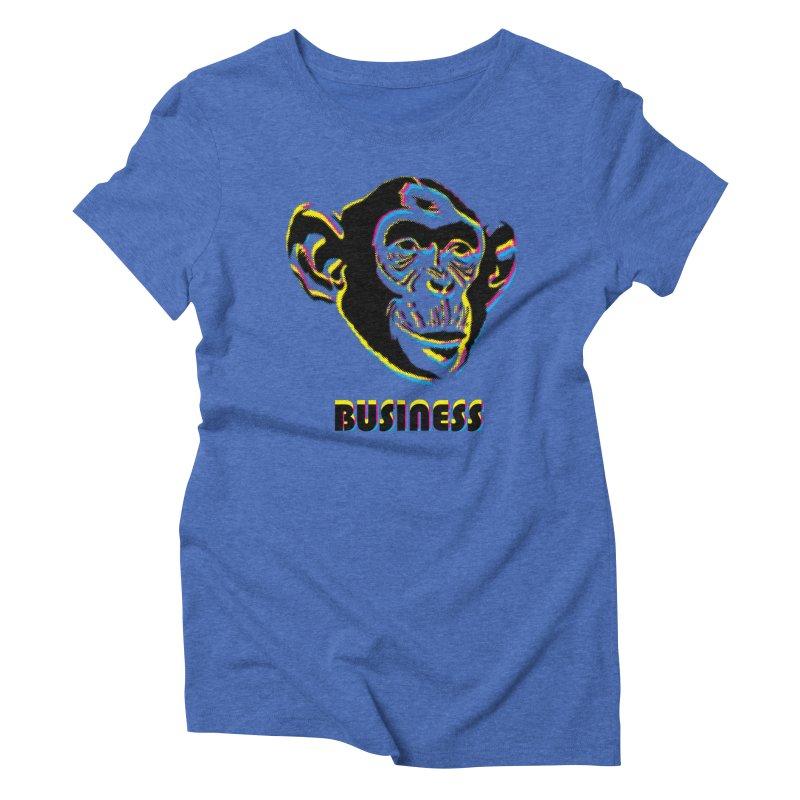 Monkey Business Women's Triblend T-Shirt by Seismicmark
