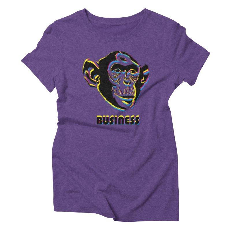Monkey Business Women's Triblend T-Shirt by Seismicmark