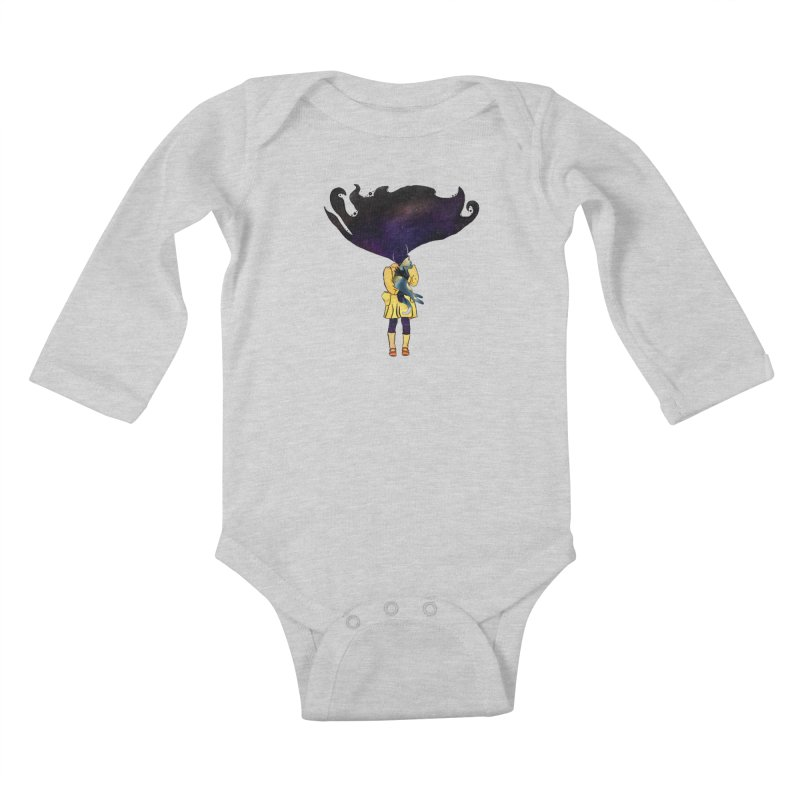 If the Solar System was a Girl Kids Baby Longsleeve Bodysuit by selendripity's Artist Shop
