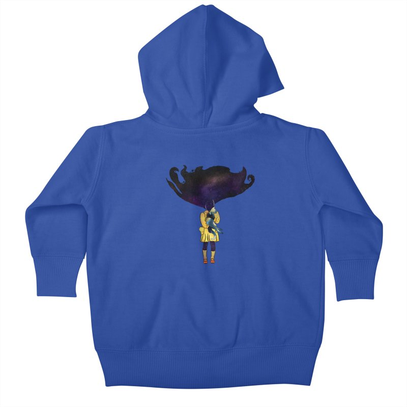 If the Solar System was a Girl Kids Baby Zip-Up Hoody by selendripity's Artist Shop