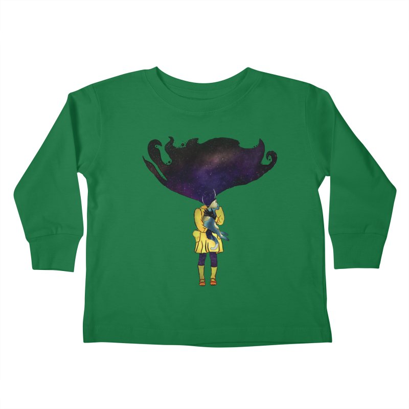 If the Solar System was a Girl Kids Toddler Longsleeve T-Shirt by selendripity's Artist Shop
