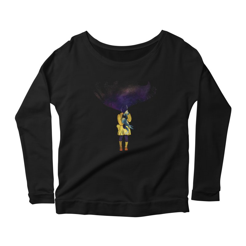 If the Solar System was a Girl Women's Scoop Neck Longsleeve T-Shirt by selendripity's Artist Shop