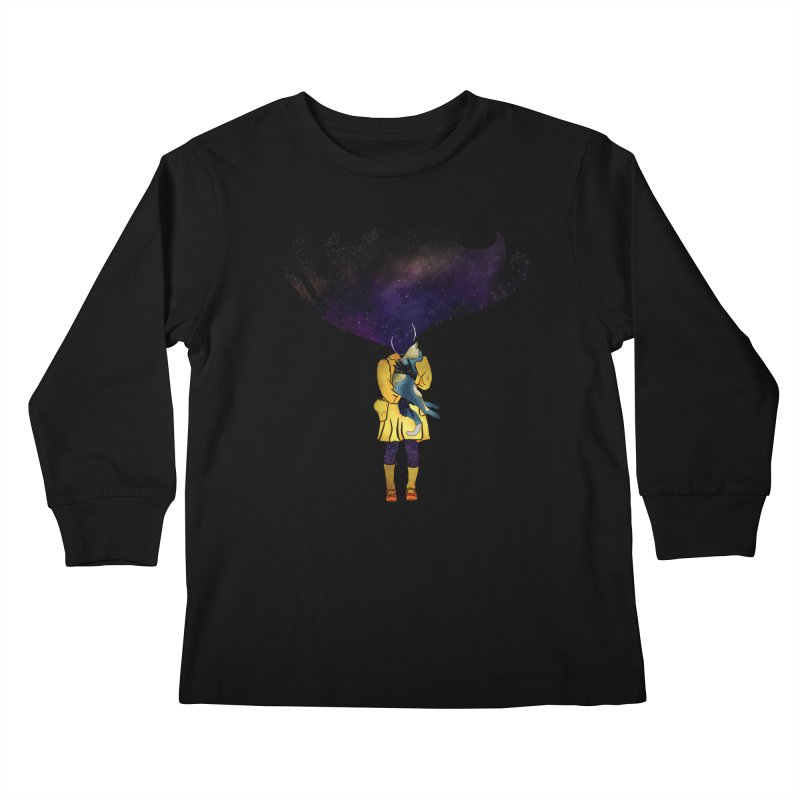 If the Solar System was a Girl Kids Longsleeve T-Shirt by selendripity's Artist Shop