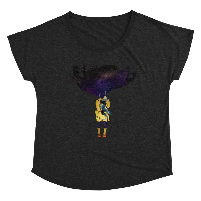 If the Solar System was a Girl Women's Scoop Neck by selendripity's Artist Shop