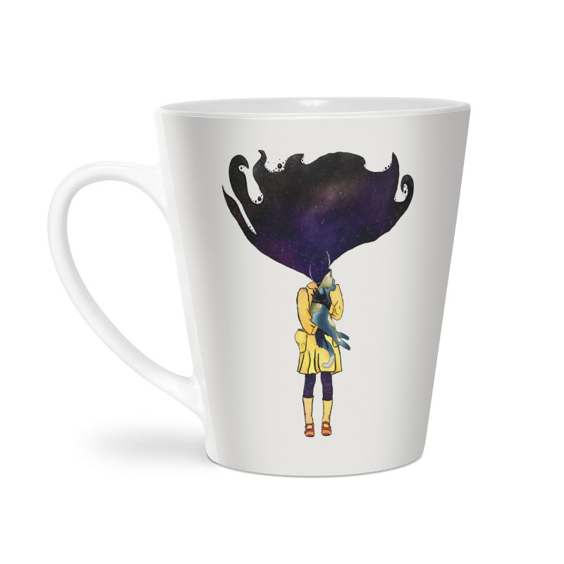 If the Solar System was a Girl Accessories Latte Mug by selendripity's Artist Shop