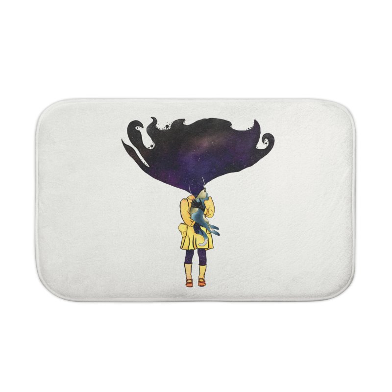 If the Solar System was a Girl Home Bath Mat by selendripity's Artist Shop