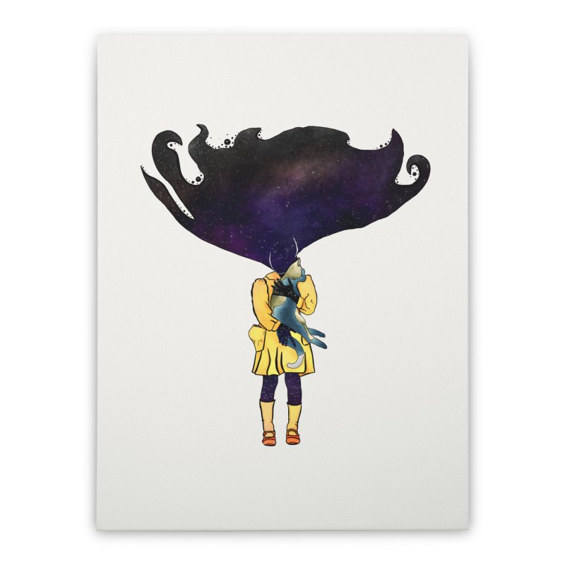 If the Solar System was a Girl Home Stretched Canvas by selendripity's Artist Shop