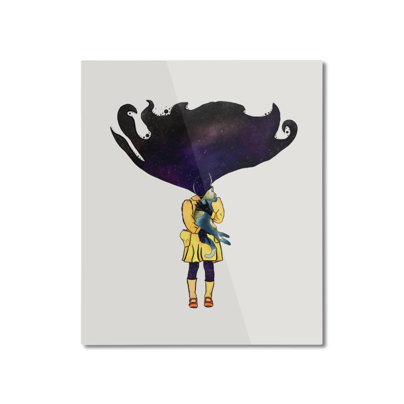 If the Solar System was a Girl Home Mounted Aluminum Print by selendripity's Artist Shop