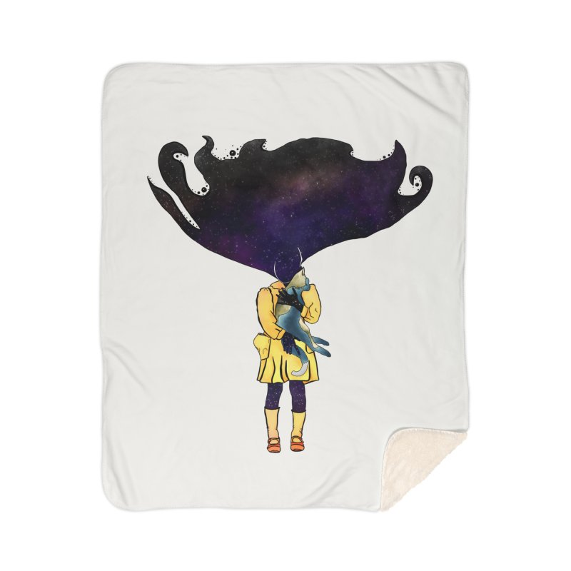 If the Solar System was a Girl Home Sherpa Blanket Blanket by selendripity's Artist Shop