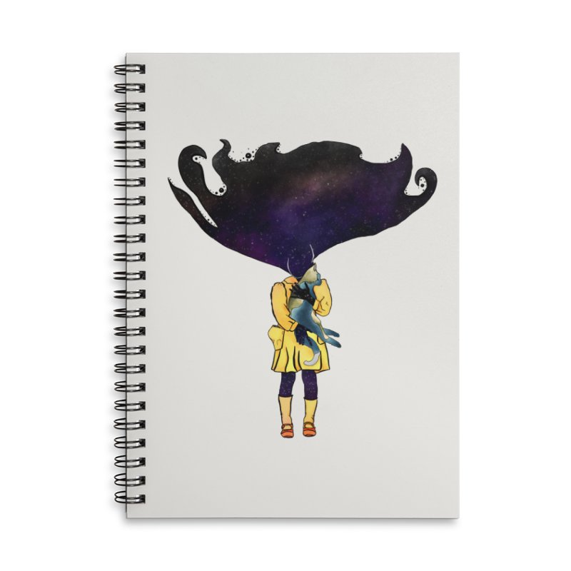 If the Solar System was a Girl Accessories Lined Spiral Notebook by selendripity's Artist Shop