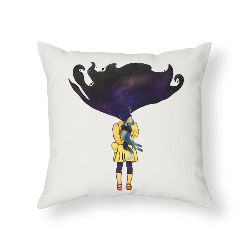If the Solar System was a Girl Home Throw Pillow by selendripity's Artist Shop
