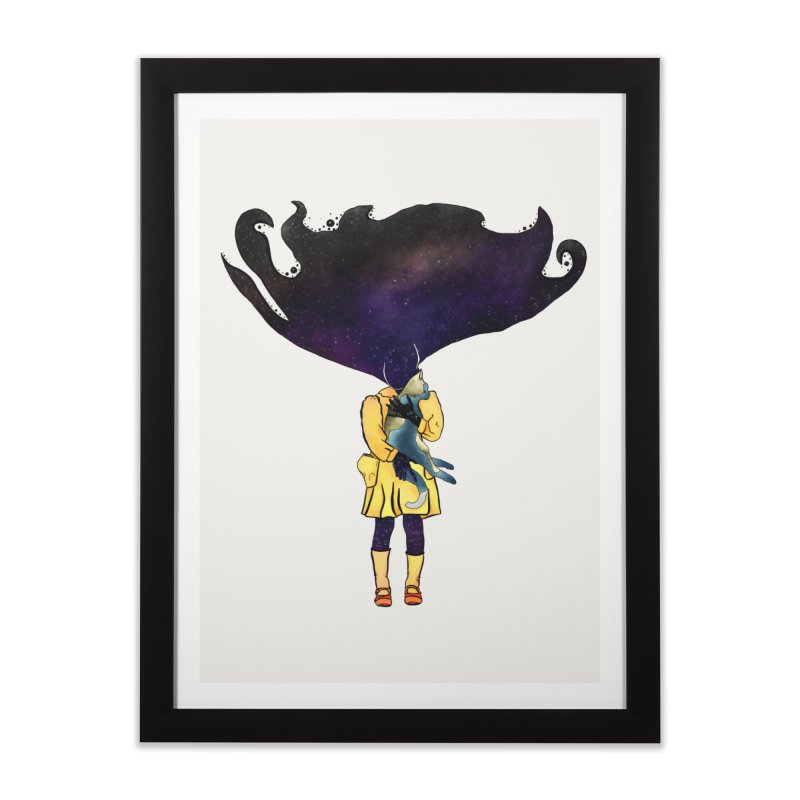 If the Solar System was a Girl Home Framed Fine Art Print by selendripity's Artist Shop