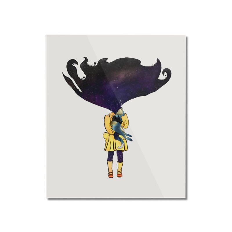 If the Solar System was a Girl Home Mounted Acrylic Print by selendripity's Artist Shop