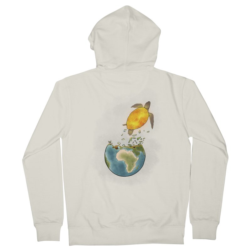 Climate changes the nature Women's French Terry Zip-Up Hoody by selendripity's Artist Shop