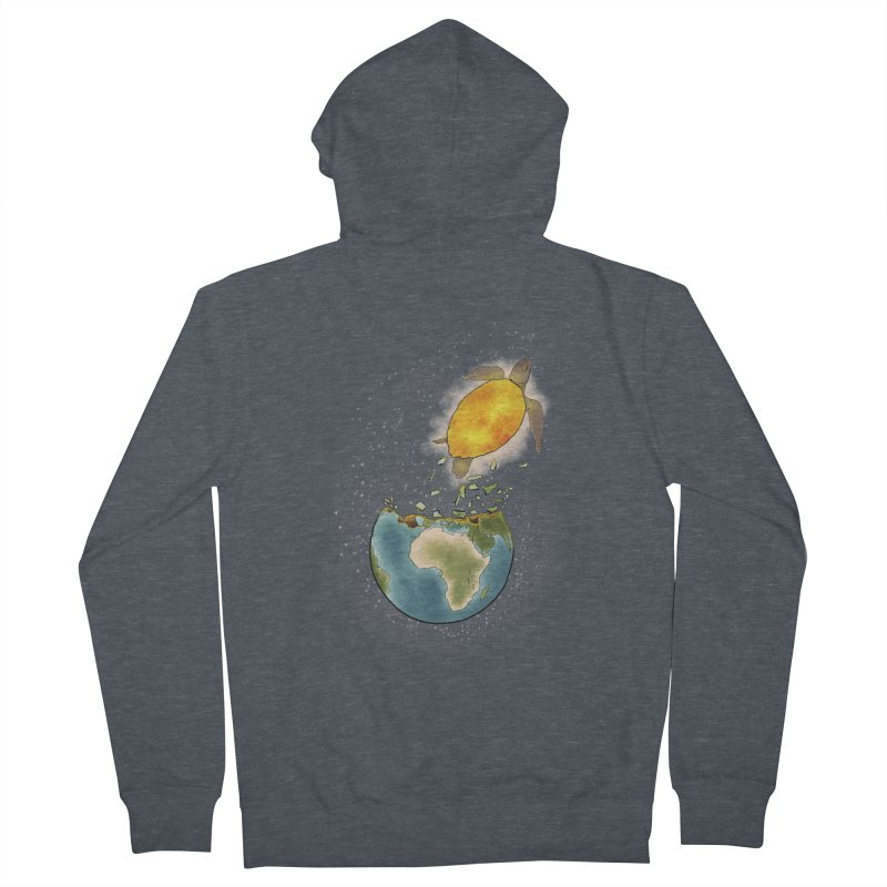 Climate changes the nature Men's French Terry Zip-Up Hoody by selendripity's Artist Shop