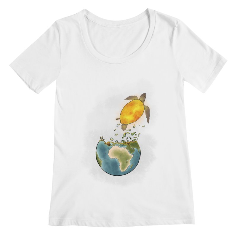 Climate changes the nature Women's Regular Scoop Neck by selendripity's Artist Shop