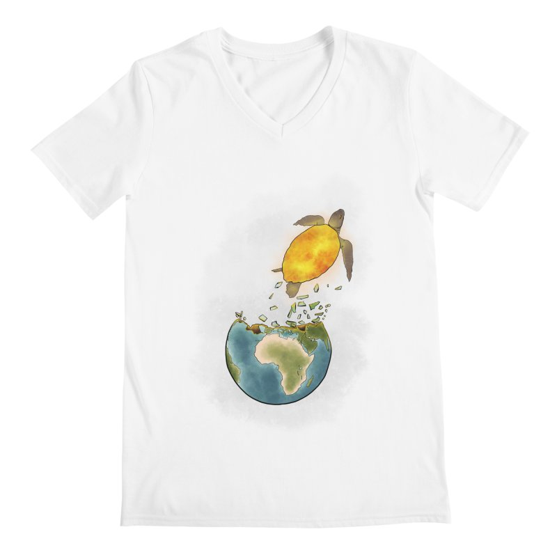 Climate changes the nature Men's V-Neck by selendripity's Artist Shop