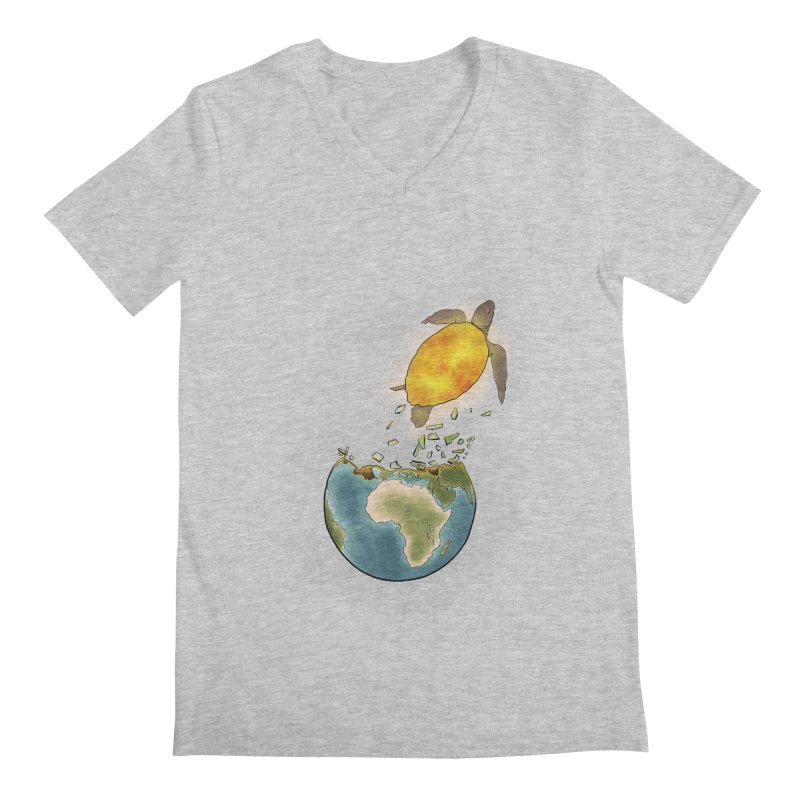 Climate changes the nature Men's Regular V-Neck by selendripity's Artist Shop