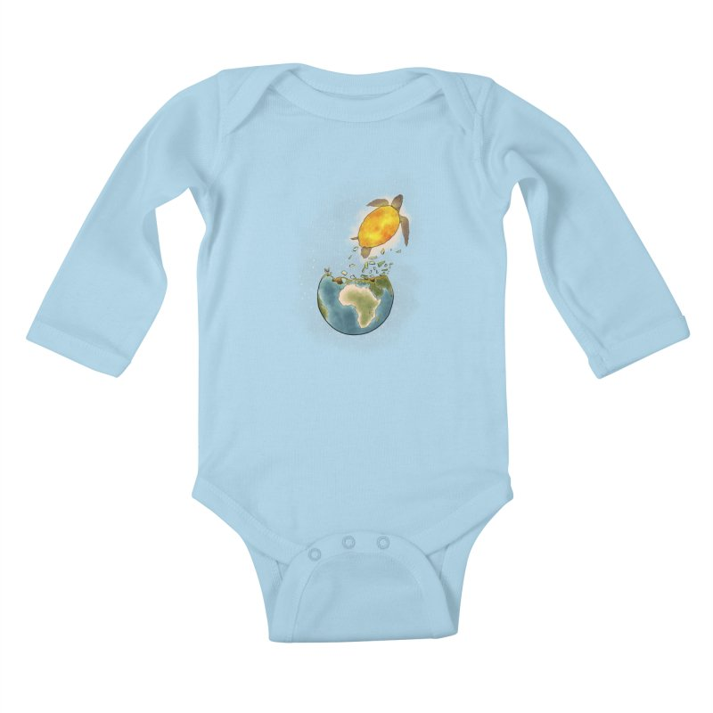 Climate changes the nature Kids Baby Longsleeve Bodysuit by selendripity's Artist Shop