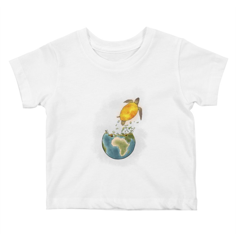 Climate changes the nature Kids Baby T-Shirt by selendripity's Artist Shop