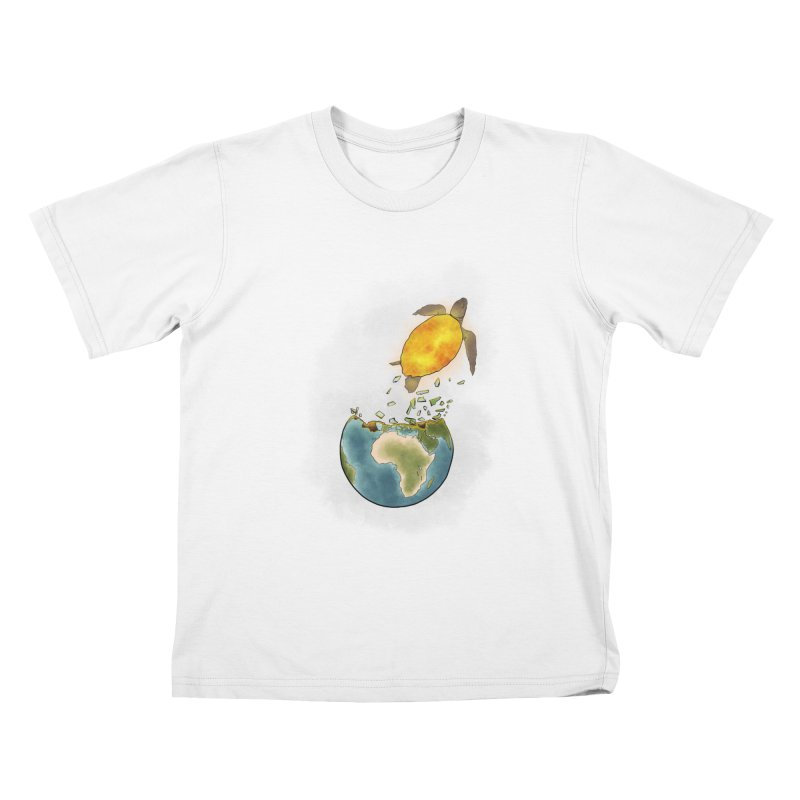 Climate changes the nature Kids T-Shirt by selendripity's Artist Shop