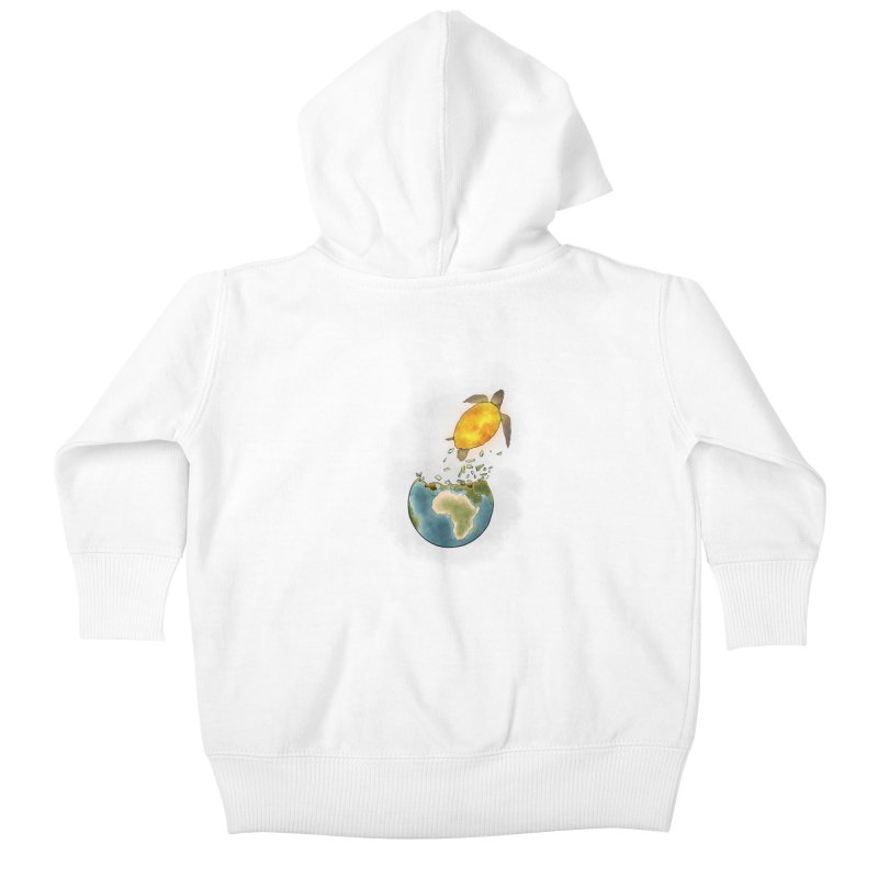 Climate changes the nature Kids Baby Zip-Up Hoody by selendripity's Artist Shop
