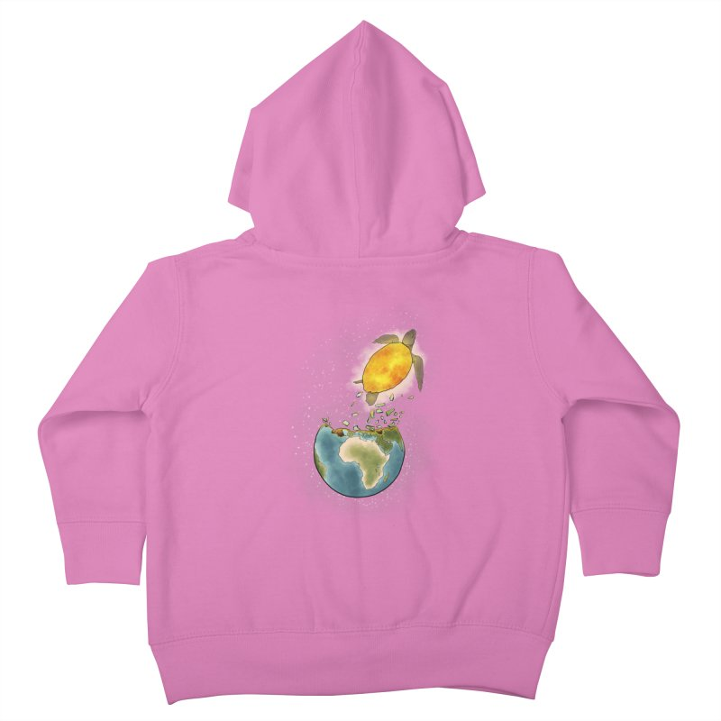 Climate changes the nature Kids Toddler Zip-Up Hoody by selendripity's Artist Shop