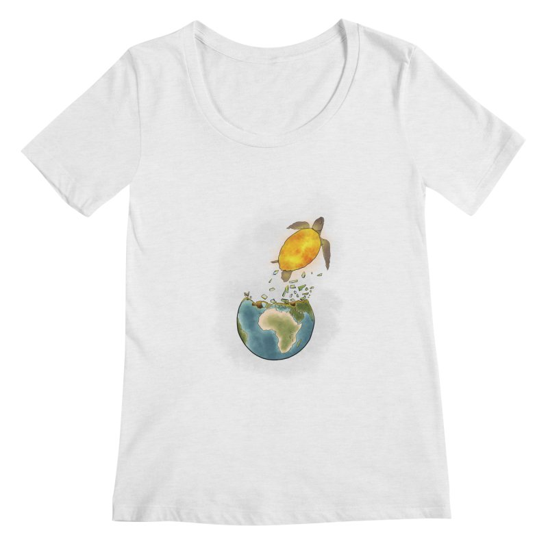 Climate changes the nature Women's Scoop Neck by selendripity's Artist Shop