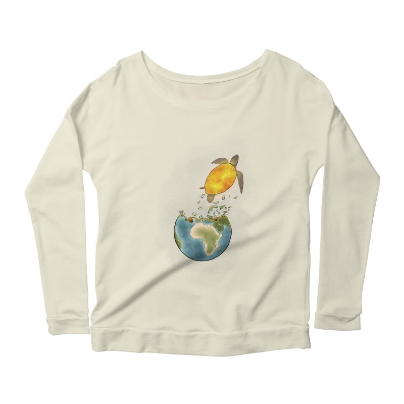 Climate changes the nature Women's Scoop Neck Longsleeve T-Shirt by selendripity's Artist Shop