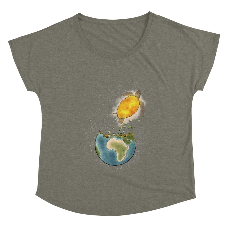Climate changes the nature Women's Dolman Scoop Neck by selendripity's Artist Shop