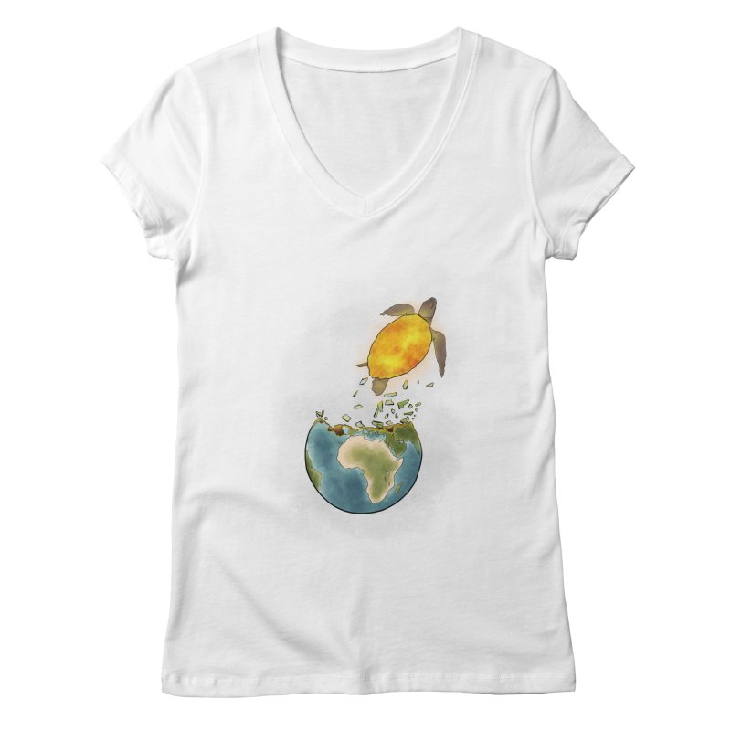 Climate changes the nature Women's Regular V-Neck by selendripity's Artist Shop