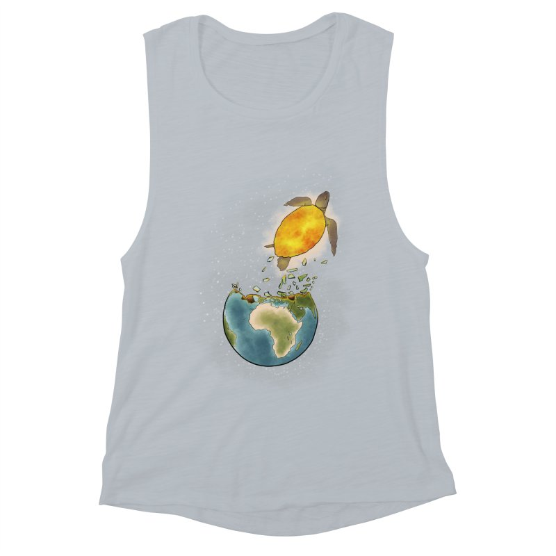 Climate changes the nature Women's Muscle Tank by selendripity's Artist Shop