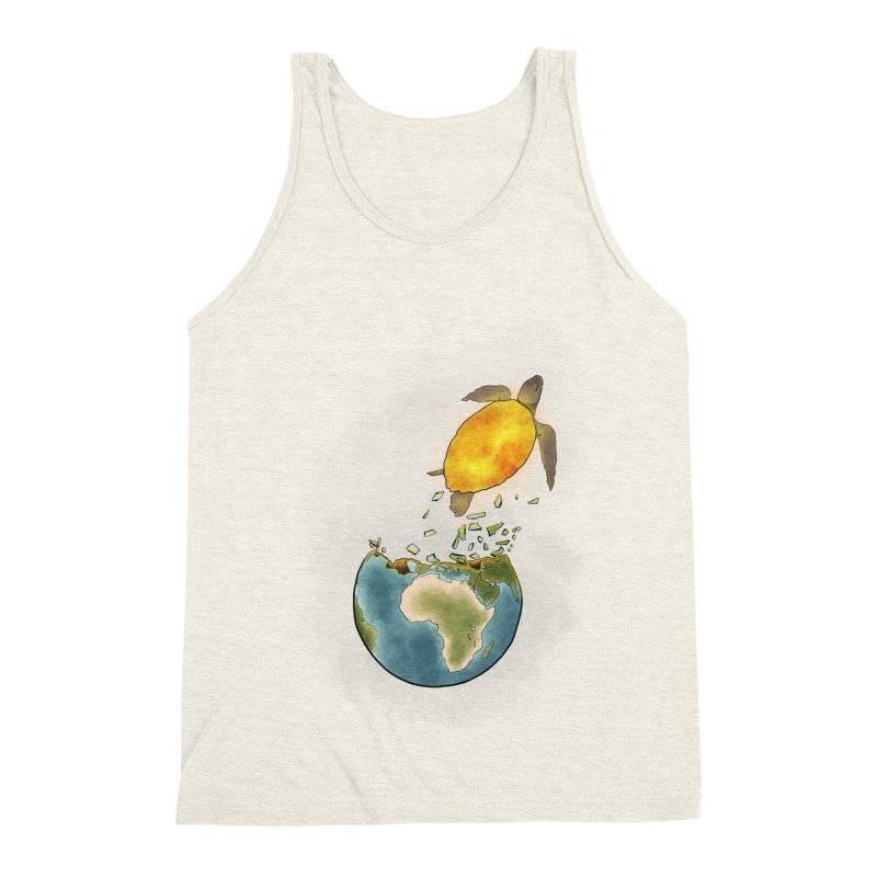 Climate changes the nature Men's Triblend Tank by selendripity's Artist Shop