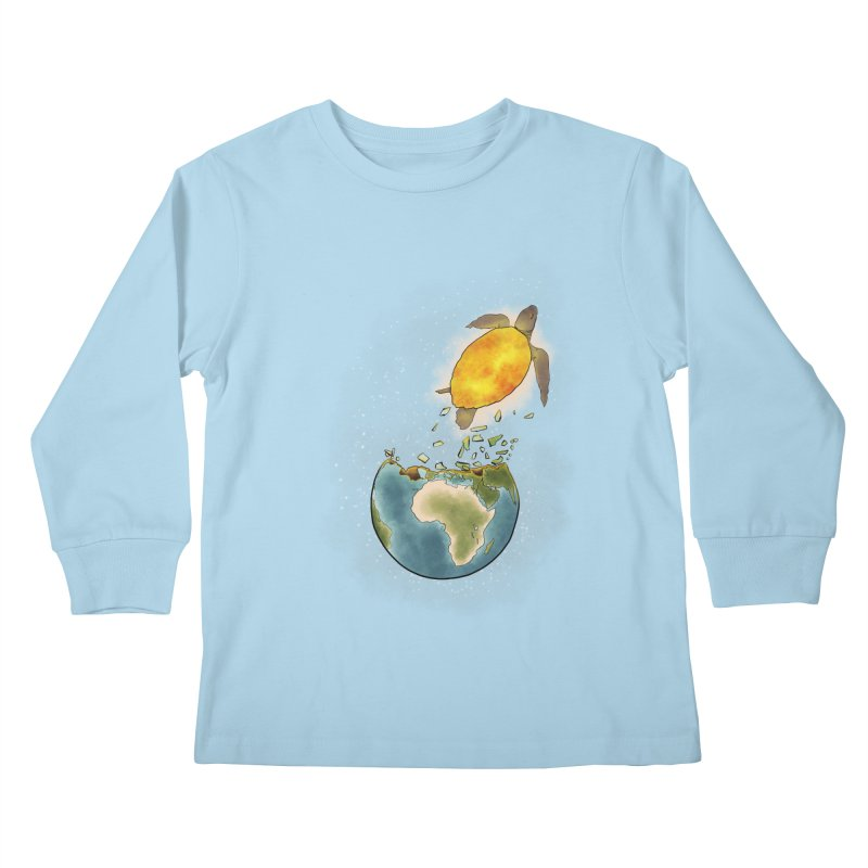 Climate changes the nature Kids Longsleeve T-Shirt by selendripity's Artist Shop