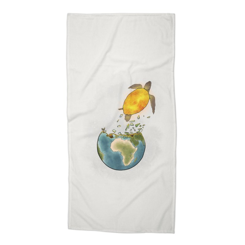 Climate changes the nature Accessories Beach Towel by selendripity's Artist Shop