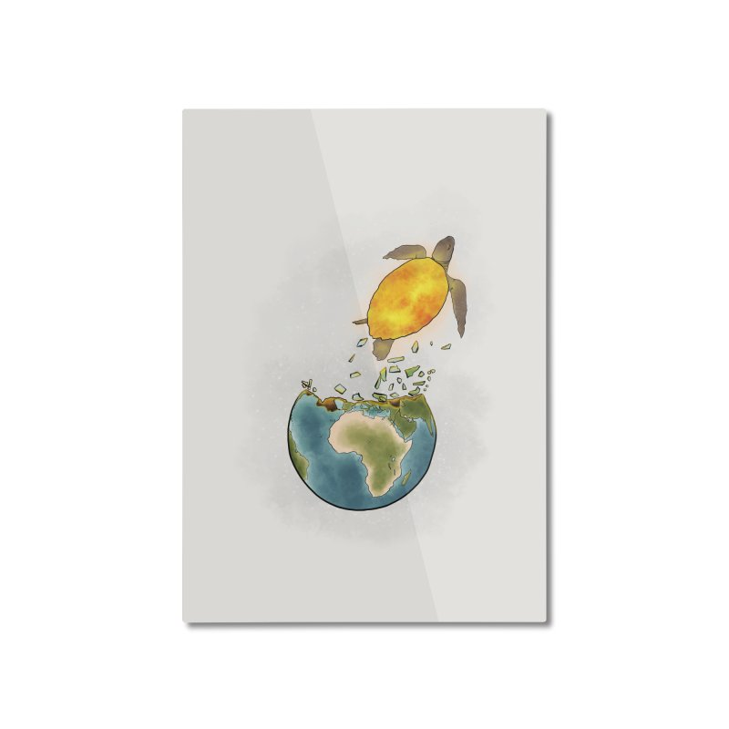 Climate changes the nature Home Mounted Aluminum Print by selendripity's Artist Shop