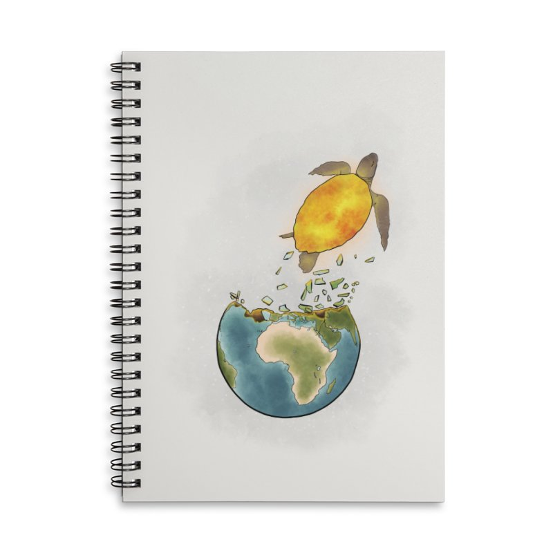 Climate changes the nature Accessories Lined Spiral Notebook by selendripity's Artist Shop