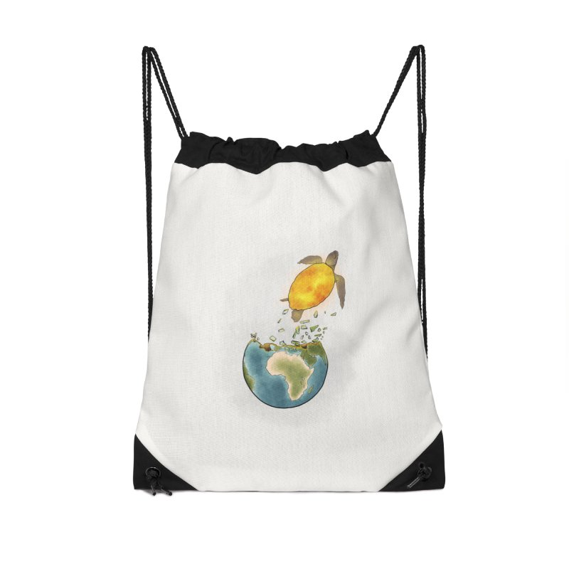 Climate changes the nature Accessories Drawstring Bag Bag by selendripity's Artist Shop