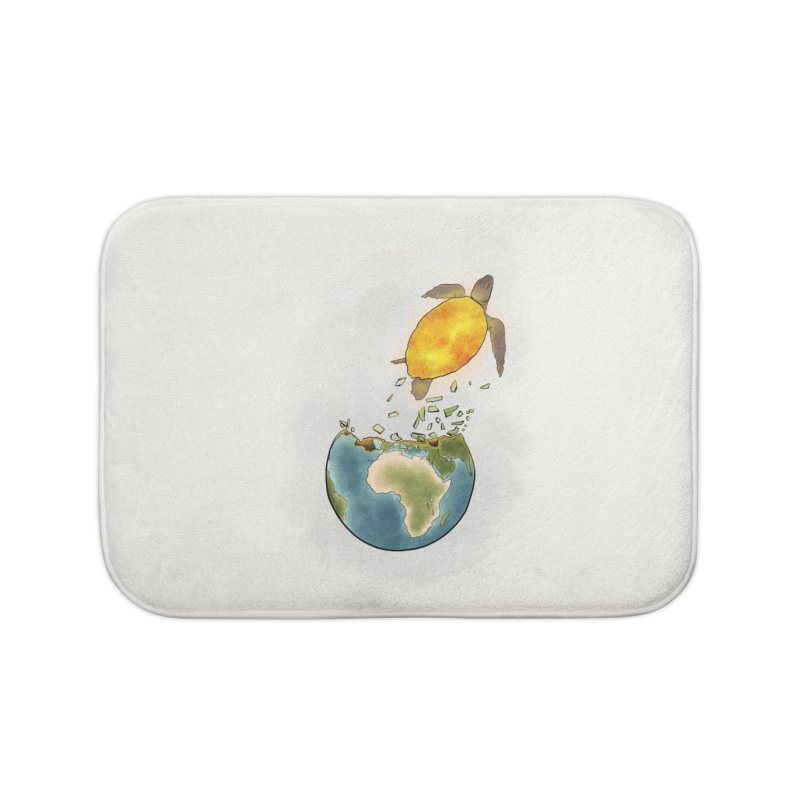 Climate changes the nature Home Bath Mat by selendripity's Artist Shop