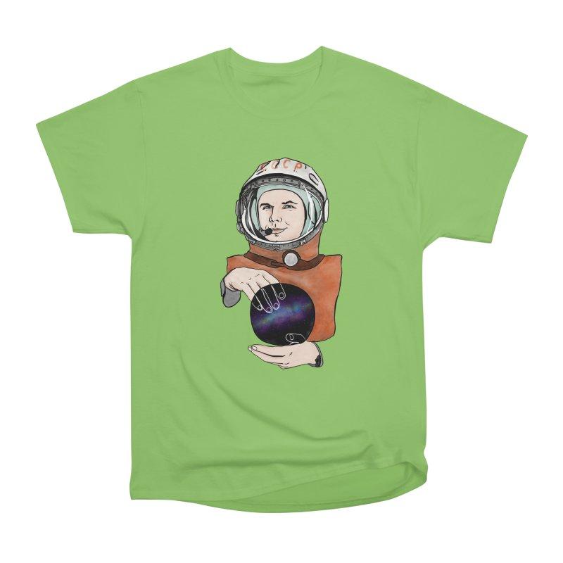 Yuri Gagarin. Space day. Women's Heavyweight Unisex T-Shirt by selendripity's Artist Shop
