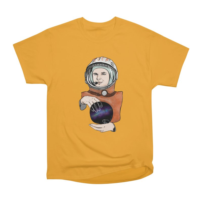 Yuri Gagarin. Space day. Men's Heavyweight T-Shirt by selendripity's Artist Shop