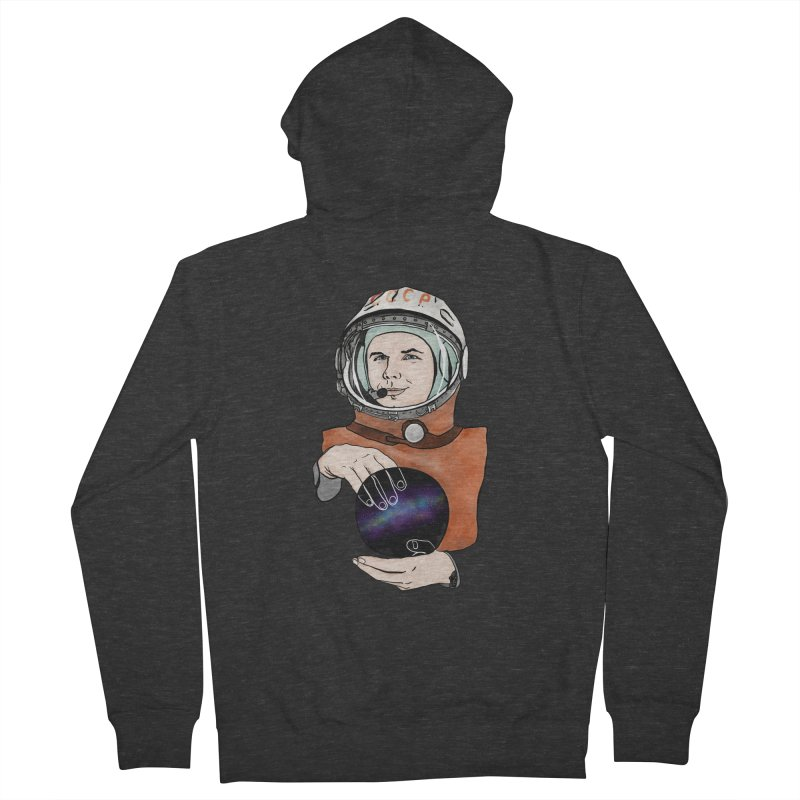 Yuri Gagarin. Space day. Women's French Terry Zip-Up Hoody by selendripity's Artist Shop