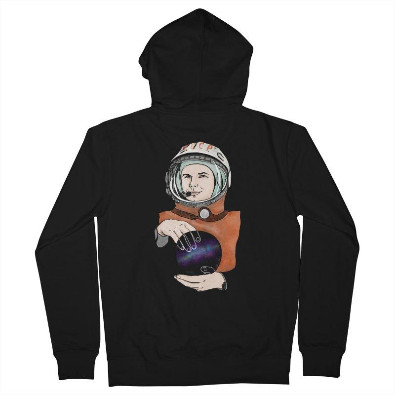 Yuri Gagarin. Space day. Women's French Terry Zip-Up Hoody by selendripity's Artist Shop